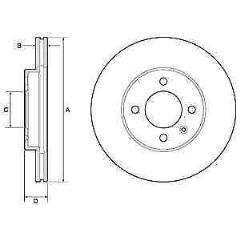 Brake Discs Front 256mmx25mm vented GTI (per pair)